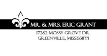 Black and White Fleur De Lis (Set) Wedding Address Label