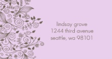 Elegant and Simple (Set) Address Label