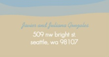 Seaside (Set) Address Label
