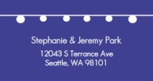 Simple Blue with Hanging Party Lights (Set) Address Label