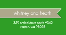 Green and Gray Modern (Set) Address Label