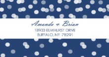 Blue Snowflake (Set) Address Label