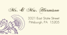 Vintage Purple Floral (Set) Address Labels