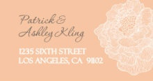 Peach with White Peony (Set) Address Labels