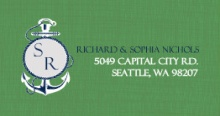 Green and Blue Nautical Themed (Set) Address Label