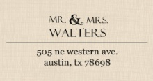 Western Love (Set) Address Label