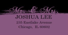 Black and Purple Painted (Set) Address Labels