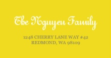Bright Yellow and White (Set) Address Label