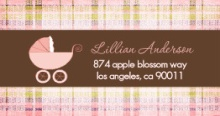 Chocolate Plaid (Set) Address Label