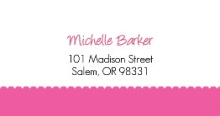 It's A Girl Pink Footprints(Set) Address Label