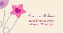 Baby Safety Pins (Set) Address Label