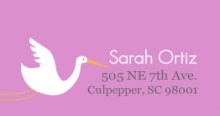 Purple Stork (Set) Address Label