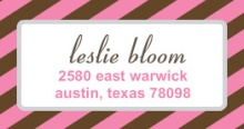Pink and Brown (Set) Address Label