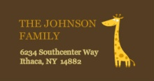 Safari Animals (Set) address labels