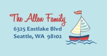 Sailing Boy (Set) Address Labels