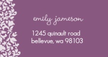 Purple Sophisticated (Set) Address Label