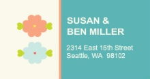 Simple Spring (Set) Address Label