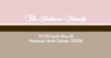 Sophisticated Pink and Brown (Set) Address Label