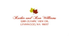 Red Anniversary Fall Leaves (Set) Address Label