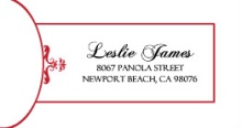 Classic Red and White Elegance (Set) Address Label