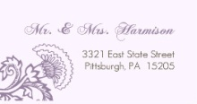Elegant Lavender Floral (Set) Address Labels