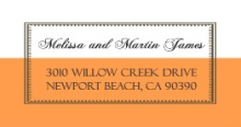 Vintage Orange and White 25th Anniversary (Set) Anniversary Address Label