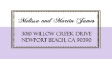 Lavender and White Vintage (Set) Address Label