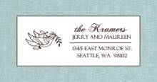 Blue and Brown Dove (Set) Address Label