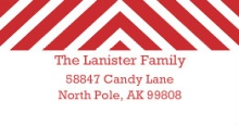 Red Chevrons (Set) Address Label