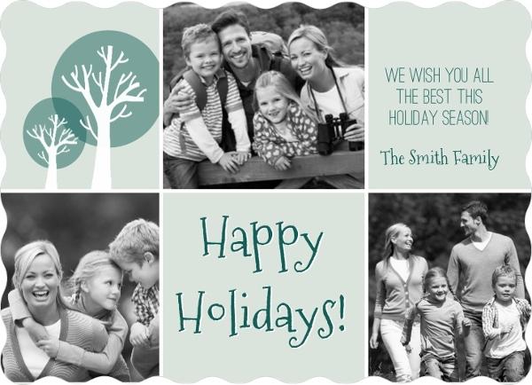 Simple Holiday Tree Christmas Card