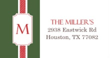 Green and Red (Set) Address Label
