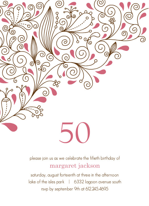 Free 50Th Birthday Invitation einmaleinshaus – Printable 50th Birthday Invitations Templates