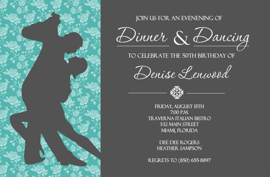 Nice Dinner Invitations Templates Photo Examples Professional