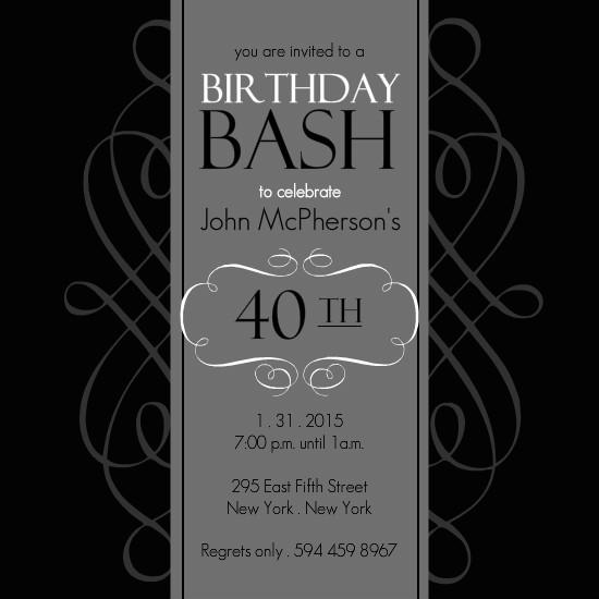 40th birthday invitation templates 40th birthday invitation templates free download image galleries filmwisefo