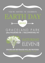 Typographic White and Gray Earth Day Card