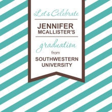 Turquoise Stripes Graduation Invitation