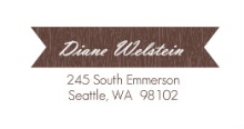 Brown Wood Grain (Set) Address Label