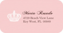 Pink Crown Heart Quinceanera (Set) Address Label