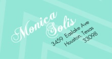 Aqua Striped Photo Mis Quince Anos (Set) Address Label