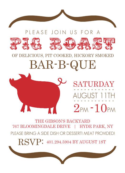 Pig Roast Invitation Template Free Militaryalicious