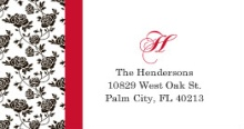 Romantic Roses Black and Red (Set) Address Label