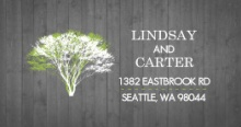 Modern Rustic Gray and White Tree (Set) Address Label