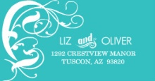 Western Turquoise Flourish (Set) Address Labels