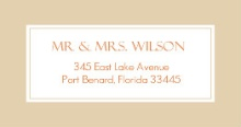 Birch Tree and Fall Leaves (Set) Address Label
