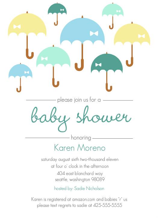 boy baby shower invitation umbrella shower boy baby shower invite