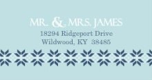 White and Navy Sweater (Set) Address Label