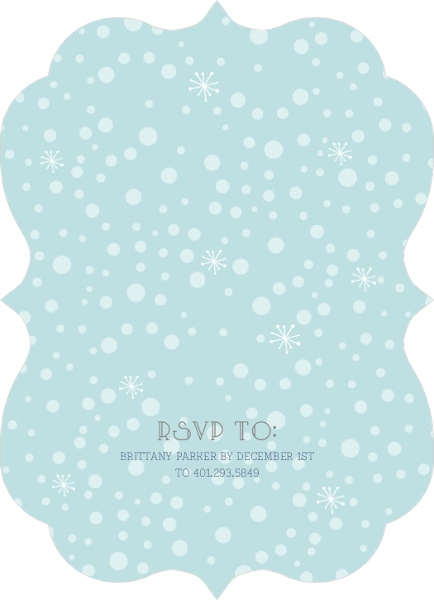 It's Cold Outside Winter Baby Shower Invitation