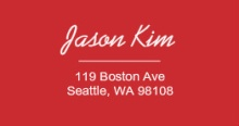 Red Outline (Set) Address Label