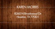 Rustic Wood (Set) Address Label