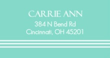 Elegant Blue (Set) Address Label